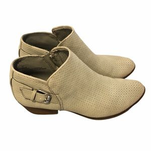 Esprit Talia Perforated Ankle Booties Stone 8